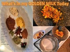 Golden Milk Chai Latte Ingredients - full recipe at http://www.making-healthy-choices.com/turmeric-golden-milk.html