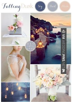 Awesome! - Wedding Colour Schemes 2017 - Falling Dusk  a Wedding Inspiration…