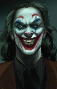 Fan art for the upcoming Joker film. Based off the Joaquin Phoenix portrayal of the villain I wanted to give him a more evil look. Joker Comic, Joker Film, Joker Art, Joker Batman, Batman Dark, Gotham Batman, Batman Robin, Comic Art, Dc Universe