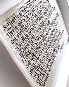 My Porcelain canvas is rough to the touch. A finish which is intentional. A visual and tactile delight! Porcelain is my ceramic of… Tile Art, Tiles, Wedding First Dance, Wedding Gifts, Art Pieces, Lyrics, Porcelain, It Is Finished, Touch