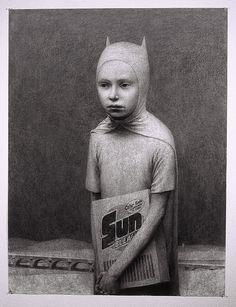 "Aron Wiesenfeld ©2009, charcoal on paper, 50""x38"" www.aronwiesenfeld.com"
