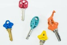 Make It Modern: DIY Colorful Plasti Dipped Key Tops - Design Milk