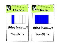fractions (easier) practice game