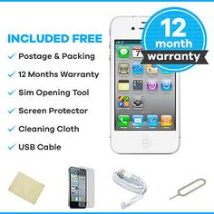 Apple #iphone 4s - 16gb - #white #(unlocked) smartphone,  View more on the LINK: http://www.zeppy.io/product/gb/2/291641874797/