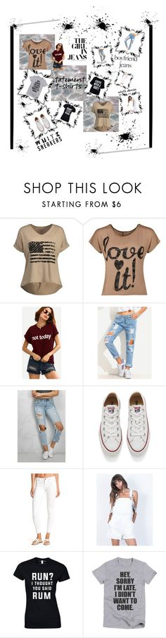 """""""Untitled #424"""" by minichyna ❤ liked on Polyvore featuring WearAll, Rare London, Converse, BLANKNYC, Honey Punch and Boohoo"""