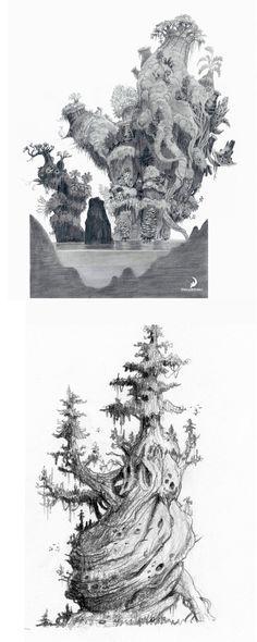 Trabalhos de Nicolas Weis para The Croods | THECAB - The Concept Art Blog #environment