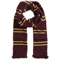 Harry Potter Gryffindor Scarf in Madam Malkin Box ($140) ❤ liked on Polyvore featuring harry potter, scarves, accessories, gryffindor, hogwarts and filler