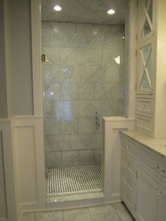Classic Marble Bath from Mid century Mess, This is the master bathroom in our home built in 1899.  We just completed this massive renovation which included closing off a wall, moving plumbing and having a custom vanity installed., Bathrooms Design