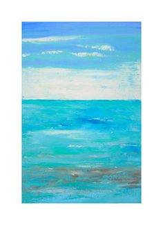 Abstract Painting Large Wall Art Blue Acrylic by PrchalArtStudio, $225.00