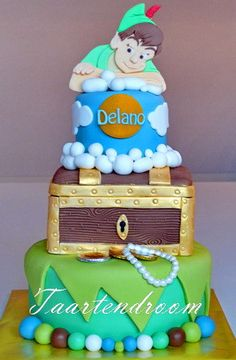 Peter Pan Cake, my favorite Disney movie of all time!!!