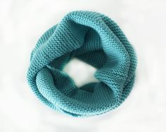 Knit infinity scarf  Toddler wool scarf  Baby infinity by MaceriLT
