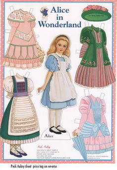 Paper Dolls~Alice In Wonderland -
