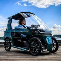 Velo Design, Bicycle Design, Automotive Rims, Velo Cargo, Cool New Gadgets, Electric Cars, Electric Vehicle, Pedal Cars, Truck Accessories