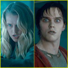 Julie (left) and R (right) Funny Movies, Great Movies, Warm Bodies Movie, Teresa Palmer Kristen Stewart, Film Man, Best Zombie, R Lol, The Body Book, Nicholas Hoult