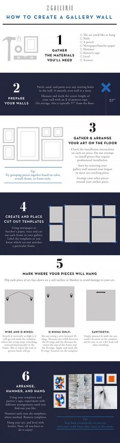 How to create a gallery wall infographic