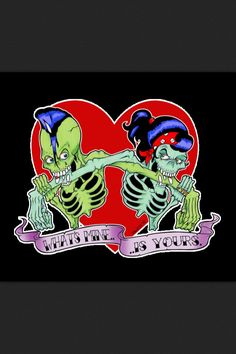 death, rockabilly, and skull image Rockabilly Art, Rockabilly Fashion, Rockabilly Couple, Psychobilly, Dark Love, Gothabilly, Skull And Bones, Halloween 2019, Skull Art