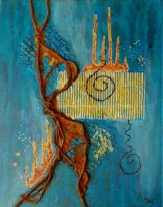 Kollage, Rost Acryl, 50x60cm
