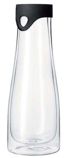 Scopri Caraffa Primo -1L isotermico - Con coperchio con beccuccio, Trasparente / tappo nero di Leonardo disponibile su Made In Design Italia il miglior sito online di design.