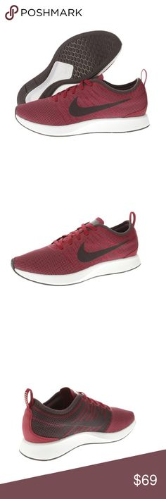 NIKE DUALTONE RACER NOBLE RED TRAINING MEN'S ***BRAND NEW***  NIKE DUALTONE RACER RED/BLACK/WHITE Designed and inspired by iconic running flats of the past, the Nike Dualtone Racer offers a snug fit for your foot. Features include dual-density cushioning, rubber outsole, and a mesh upper to keeps things nice and light. Grab your pair today from Culture Kings while stocks last.   - Breathability through a standout mesh upper  - Support & cushioning from a dual-density foam sole  - Rubber…