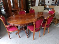 Dining table with 6 chairs --------------- £185 (pc970)
