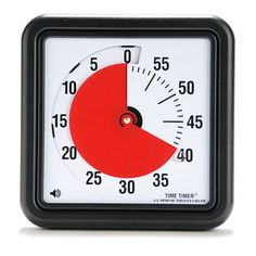A visual timer with an audible signal for those visual and auditory learners in the classroom that use a timer when they are working.