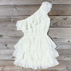River's Mist Dress in White, Sweet Women's Country Clothing