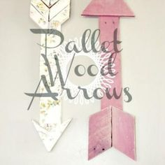 Wood Pallet Arrows {DIY Decor} (would also be super cute to do in a boys room)