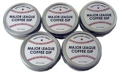 Major League Coffee Dip Quit Chewing Tin Can Non Tobacco Nicotine Free Smokeless Alternative to Chew Snuff Snus Leaf (6 Pack) -- Awesome products selected by Anna Churchill