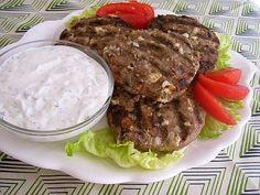 SCD Greek Turkey Burgers w/ Tzatziki Sauce (*Use dripped SCD yogurt & substitute crumbled DCCC for feta...)