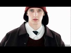 Belgian model Yannick Abrath fronts the Raf Simons Autumn/Winter '12 film