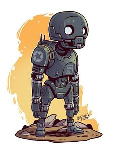 ‪Chibi K-2SO prints will be on sale at www.dereklaufman.com (Link in my profile) May 4th along with a site wide sale. Don't miss out! #MayThe4thBeWithYou #K2SO‬ #starwars #starwarsrogueone #rogueone #chibi #fanart #dereklaufman