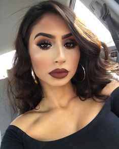 NYX Professional Makeup soft lip matte cream in 'Berlin' ? Brown Lipstick Makeup, Makeup For Brown Eyes, Skin Makeup, Makeup With Dark Lips, Nyx Cosmetics, Beauty Make-up, Hair Beauty, Makeup Inspo, Makeup Inspiration