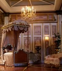 Marie Antoinette inspired bedroom Dollhouse Miniatures and Accessories