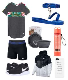 """""""Walking my dog🐶"""" by mbakovic ❤ liked on Polyvore featuring NIKE"""