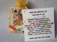 New Job Novelty Survival Kit Gift Keepsake Fun Present