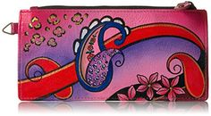 Anna By Anuschka Women's Hand Painted Leather Organizer Wallet