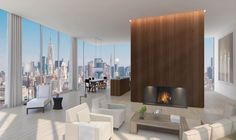 Herzog & de Meuron and John Pawson teamed up to design the exterior and interior of a Manhattan hotel and apartment block for developer Ian Schrager. Luxury Condo, Luxury Apartments, Luxury Homes, Best Interior, Interior Styling, Manhattan, Ian Schrager, John Pawson, Penthouse Apartment