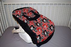 NEW INFANT CAR SEAT CARRIER COVER W/ UNIVERSITY OF GEORGIA BULLDOGS FABRIC