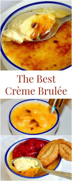 The Best Crème Brulée - an all cream version of the classic French dessert for the richest, smoothest, most velvety baked custard you have ever tasted, which deliciously contrasts with the golden crispy caramelized sugar top. I love creme brule Just Desserts, Delicious Desserts, Yummy Food, Tasty, Classic French Desserts, French Deserts, Caramelized Sugar, Sweet Recipes, French Food Recipes