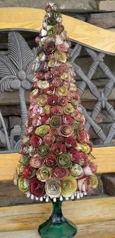 Paper flower Christmas tree - Heartstrings