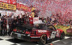 Chris Buescher wins Xfinity race @ Iowa.