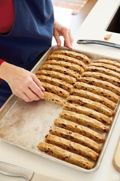 Christmas tradition: Homemade Biscotti Hallmark Designer, Kim P. is sharing her recipe and Christmas Italian Cookie Recipes, Italian Cookies, Baking Recipes, Dessert Recipes, Pillsbury Recipes, Italian Desserts, Biscotti Rezept, Biscotti Cookies, Almond Cookies