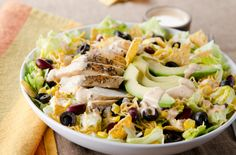 Chopped Black Bean Chicken Salad - Recipes for Healthy Living by the American Diabetes Association® Detox Recipes, Quick Recipes, Quick Easy Meals, Salad Recipes, Healthy Recipes, Detox Foods, Healthy Salads, Healthy Eating, Meal Salads
