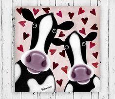 Soppy Moos, Cow Painting.