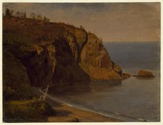 "Tombstone:  	Drawing, ""Coast of Grand Manan Island, Canada"", August or September 1851.  		August or September 1851. 	Brush and oil paint, graphite on paperboard.Smithsonian, Cooper-Hewitt, National Design Museum"