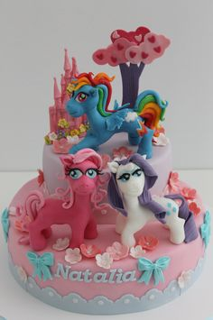 http://www.viorica-torturi.ro/ cake my little pony cake birthday party cake girl pink blue rainbow