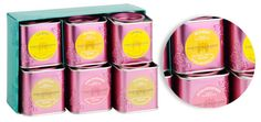 Fortrum and Mason Tea: Fortrum and Mason Tea. It reminds me of Sophia champagne cans.