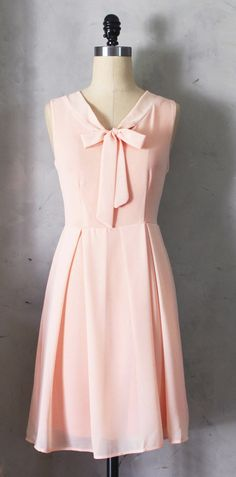 Blush bow dress