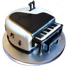 Send Fondant Cakes by making order from APCO. Best Fondant Cake Delivery site in Delhi NCR Gurgaon Noida Ghaziabad Mumbai Pune Kolkata Bangalore, all India Fondant Cake Prices, Fondant Cake Designs, Fondant Cakes, Music Themed Cakes, Music Cakes, Bolo Musical, One Tier Cake, Piano Cakes, Bithday Cake