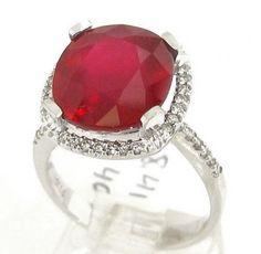 8.40ctw Cushion cut rich RED RUBY & Diamonds engagement ring Rub1200 by ninaellejewels on Etsy https://www.etsy.com/listing/81594566/840ctw-cushion-cut-rich-red-ruby